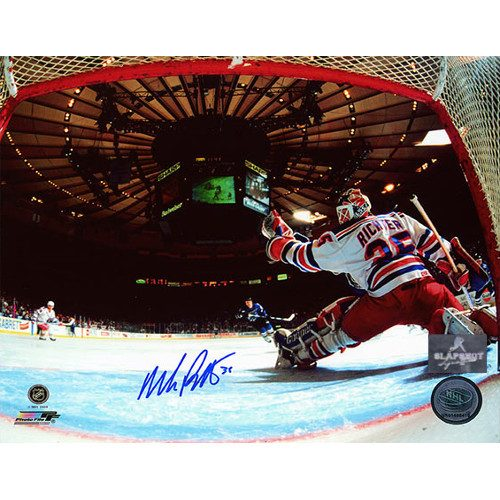 Mike Richter Rangers Madison Square Garden Net Cam 8x10 Signed Photo