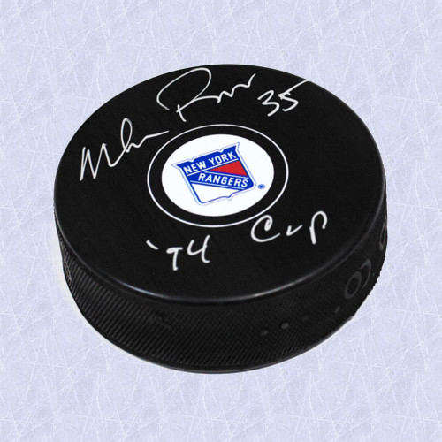 Mike Richter Signed Puck 94 Cup Note-New York Rangers