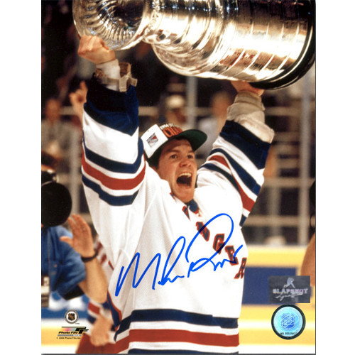 Mike Richter Stanley Cup Signed Photo-New York Rangers 1994 8x10