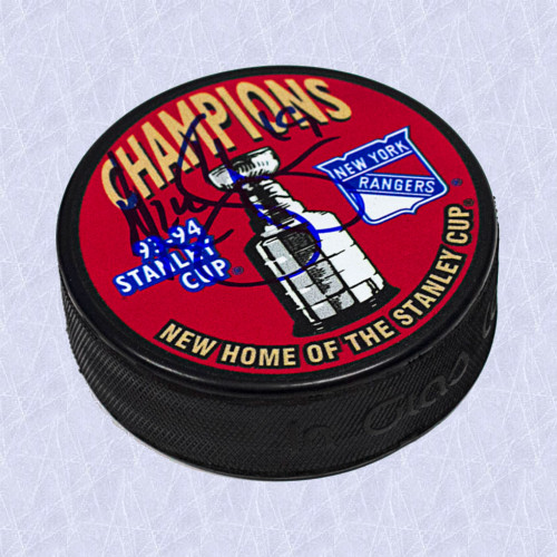 Nick Kypreos Autographed New York Rangers 1994 Stanley Cup Puck