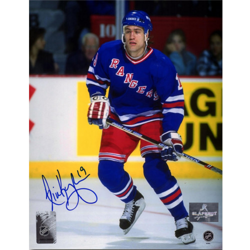 Nick Kypreos New York Rangers Autographed Action 8x10 Photo