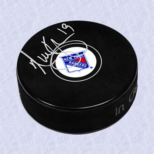 Nick Kypreos New York Rangers Autographed Hockey Puck