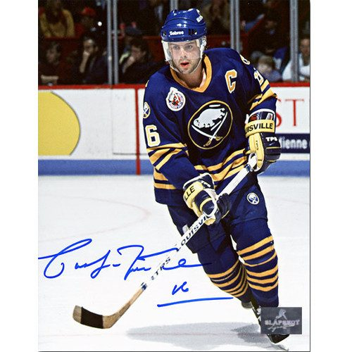 Pat LaFontaine Autographed Buffalo Sabres Action 8x10 Photo