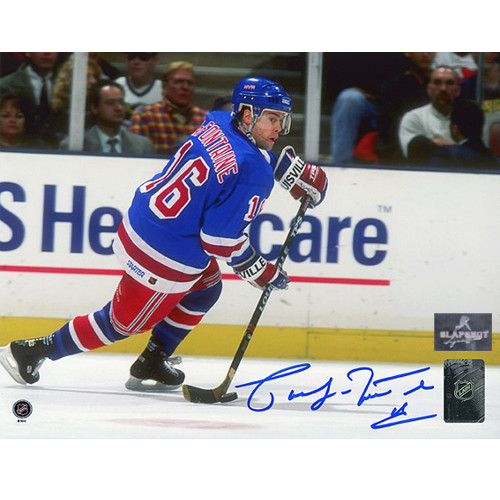 Pat LaFontaine New York Rangers Autographed Playmaker 8x10 Photo