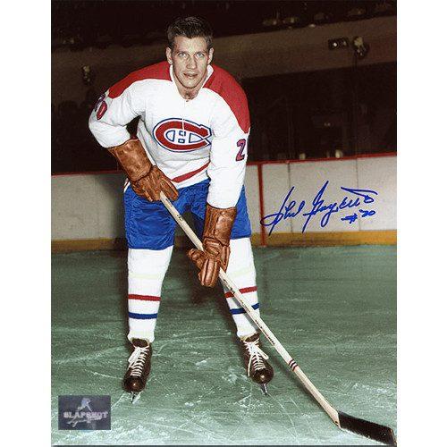 Phil Goyette Montreal Canadiens Autographed 8x10 Photo