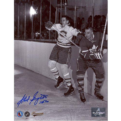 Phil Goyette Montreal Canadiens Autographed Original Six Action 8x10 Photo