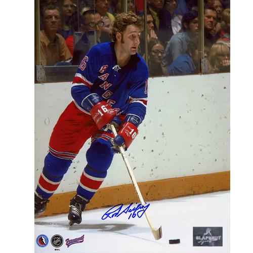 Rod Seiling New York Rangers Autographed Action 8x10 Photo