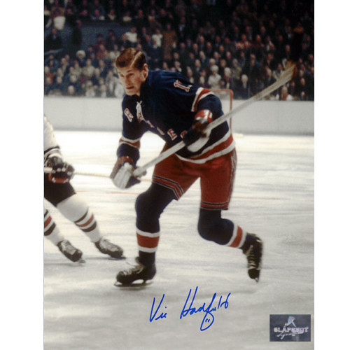 Vic Hadfield New York Rangers Autographed Game Action 8x10 Photo