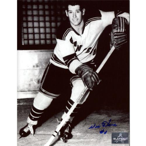 Vic Howe New York Rangers Autographed Closeup 8x10 Photo