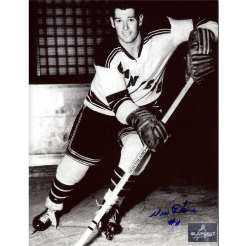 Vic Howe New York Rangers Autographed Closeup 8x10 Photo