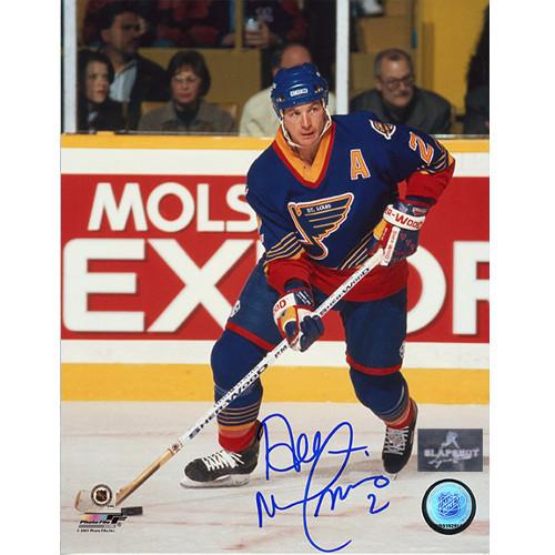 Al MacInnis St. Louis Blues Action Autographed 8x10 Photo