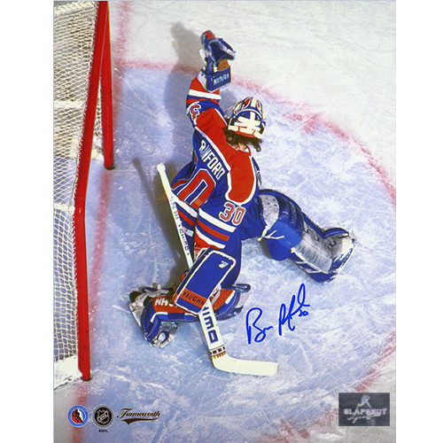 Bill Ranford Signed Photo-Overhead 8x10 Photo-Edmonton Oilers