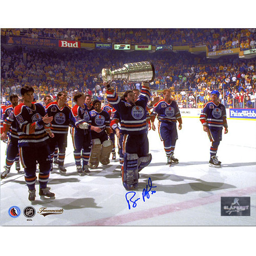 Bill Ranford Stanley Cup 1990 Edmonton Oilers Autographed 8x10 Photo
