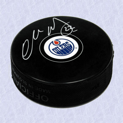 Charlie Huddy Edmonton Oilers Autographed Official Model Hockey Puck