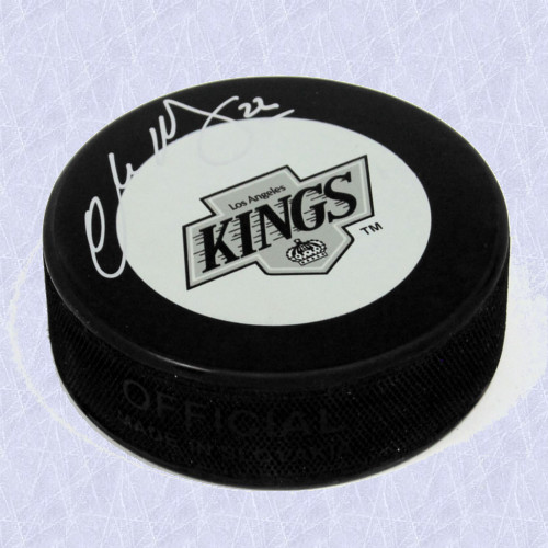 Charlie Huddy LA Kings Autographed Retro Logo Hockey Puck