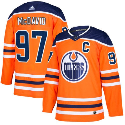 Connor McDavid Edmonton Oilers Adidas Authentic Home NHL Hockey Jersey