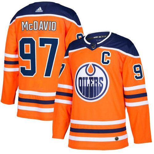 Connor McDavid Edmonton Oilers Adidas Authentic Home NHL Hockey Jersey