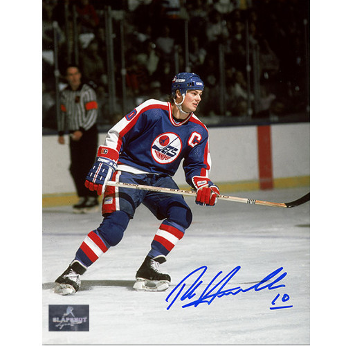 Dale Hawerchuk Winnipeg Jets Autographed Captain 8x10 Photo