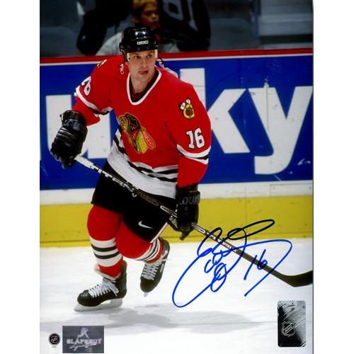 Ed Olczyk Chicago Blackhawks Autographed Hockey 8x10 Photo