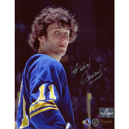 Gilbert Perreault Buffalo Sabres Autographed Closeup 8x10 Photo