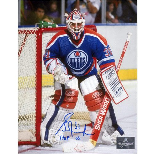 Grant Fuhr Hall of Fame Signed Photo-Edmonton Oilers Goalie 8x10