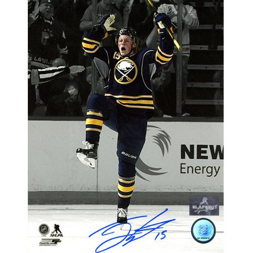 Jack Eichel Sabres-Autographed First NHL Game & Goal 8x10 Photo