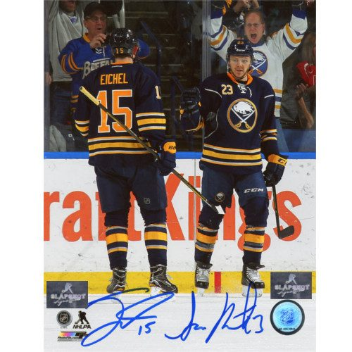 Jack Eichel Sam Reinhart Buffalo Sabres Dual Signed Young Stars 8x10 Photo