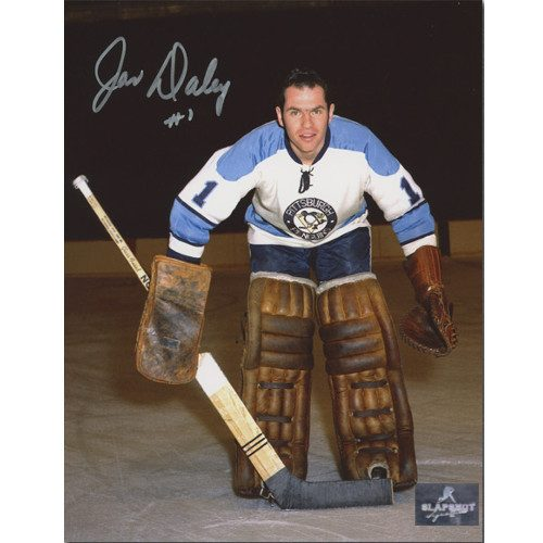 Joe Daley Pittsburgh Penguins Autographed Closeup Goalie 8x10 Photo