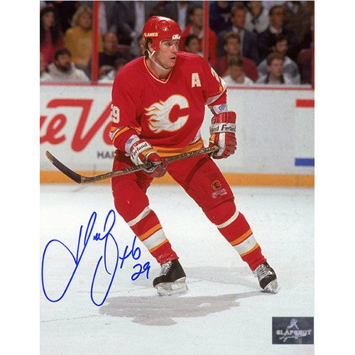 Joel Otto Calgary Flames Autographed Hockey Action 8x10 Photo