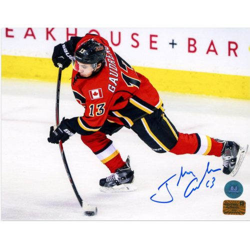 Johnny Gaudreau Calgary Flames Hockey Sniper Signed 8x10 Photo