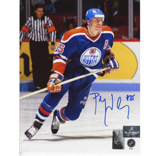 Petr Klima Edmonton Oilers Autographed Hockey Action 8x10 Photo