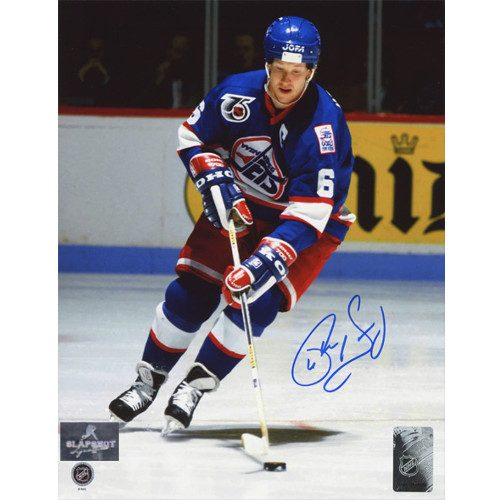 Phil Housley Winnipeg Jets Autographed Hockey Playmaker 8x10 Photo