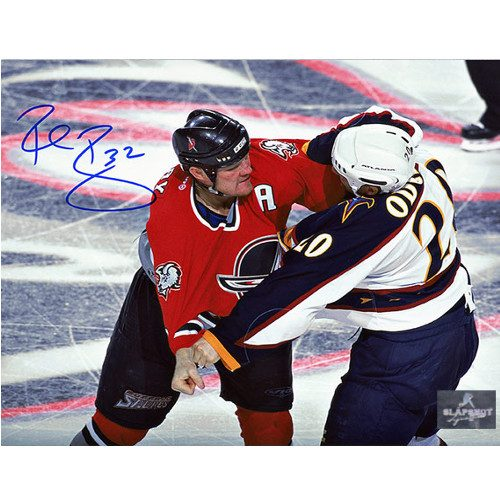 Rob Ray Buffalo Sabres Autographed Fighting 8x10 Photo