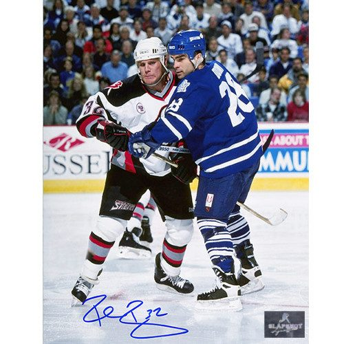 Rob Ray Buffalo Sabres Autographed Fighting vs Domi 8x10 Photo