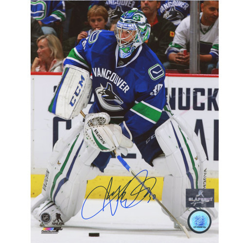 Ryan Miller Vancouver Canucks Signed Passing Puck 8x10 Photo