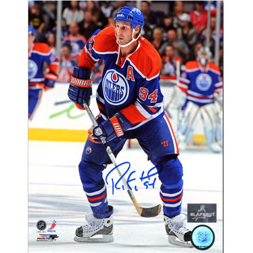 Ryan Smyth Oilers Autographed Game Action 8x10 Photo