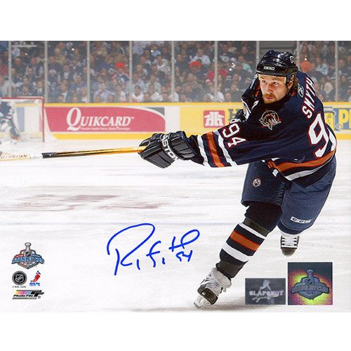 Ryan Smyth Stanley Cup Finals 2006 Signed Photo-Edmonton Oilers 8x10