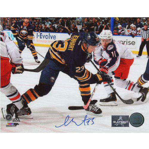 Sam Reinhart First NHL Game Buffalo Sabres Autographed 8x10 Photo