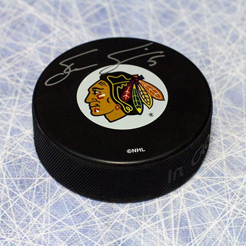 Steve Smith Chicago Blackhawks Autographed Official Hockey Puck