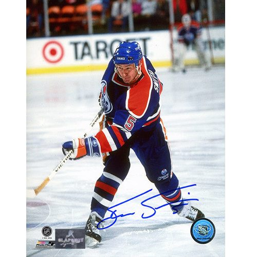 Steve Smith Edmonton Oilers Autographed Shooting 8x10 Photo
