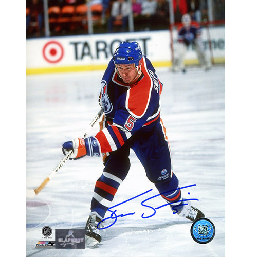 Steve Smith Edmonton Oilers Autographed Shooting 8x10 Photo