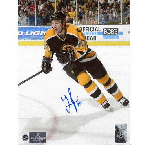 Wayne Primeau Boston Bruins Autographed Hockey Action 8x10 Photo