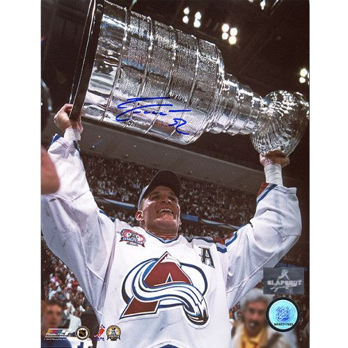 Adam Foote Colorado Avalanche Stanley Cup Autographed 8x10 Photo