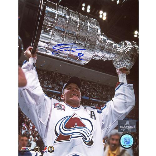 Adam Foote Colorado Avalanche Stanley Cup Autographed 8x10 Photo