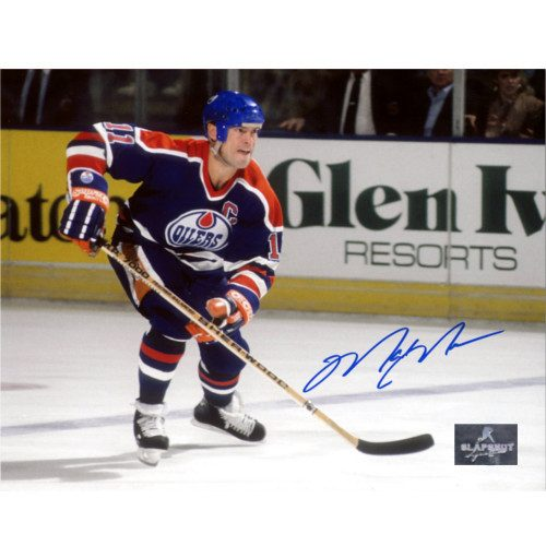 Mark Messier Oilers Hockey Rush Autographed 8x10 Photo