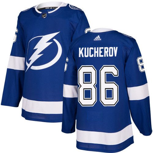 Nikita Kucherov Tampa Bay Lightning Adidas Authentic Home NHL Hockey Jersey