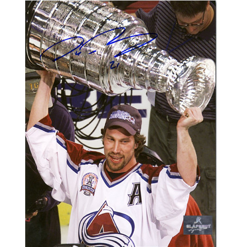 Peter Forsberg 2001 Stanley Cup Signed Colorado Avalanche 8x10 Photo