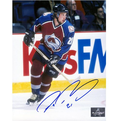 Peter Forsberg Autographed Photo-Colorado Avalanche Action 8x10 Photo