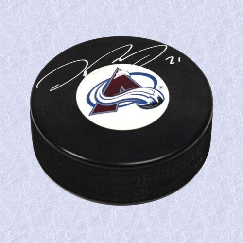 Peter Forsberg Autographed Puck-Colorado Avalanche Official Hockey Puck
