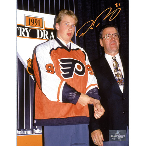 Peter Forsberg Philadelphia Flyers Autographed 1991 Draft Day 8X 10 Photo